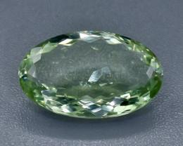 27.18 Crt Green Prasiolite Amethyst Faceted Gemstone (Rk-16)