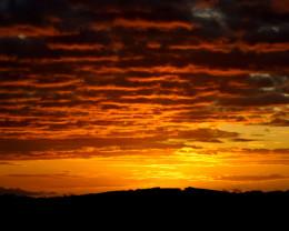 Fiery Hawaiian sunset.