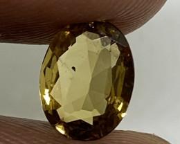 (16) GFCO  Cert Beautiful 1.01ct Nat Oval Greenish-Yellow Alexandrite
