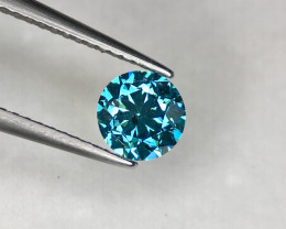 ~No Reserve~0.92(ct) Pleasing Color Natural Blue Diamond