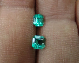Colombian emerald pair from Chivor  0.65 cts