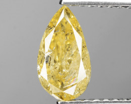 *NoReserve*Diamond 0.99 Cts Intense Yellow Color Natural