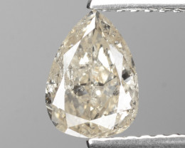 *NoReserve* Diamond 0.97 Cts Untreated Natural Fancy Light Brown Color