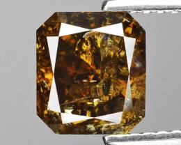 *No Reserve*Diamond 2.05 Cts Untreated Natural Fancy Honey Cognac Color