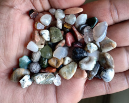 200 Ct Tumbled Gemstones Mix Lot 100% NATURAL AND UNTREATED VA59
