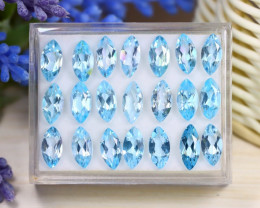 Blue Topaz 26.59Ct Marquise Cut Natural Sky Blue Topaz Lot Box B1408