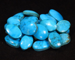 Turquoise 405.00Ct 25Pcs Natural Blue Sleeping Beauty Turquoise Lot B1422