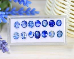 Sapphire 9.88Ct Oval Cut Natural Madagascar Blue Sapphire Lot Box B1428