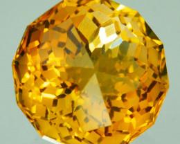 ~CUSTOM CUT~ 4.68 Cts Natural Golden Orange Citrine Fancy Round Brazil