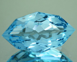 ~CUSTOM CUT~ 9.02 Cts Natural Baby Blue Topaz Fancy Marquise Brazil