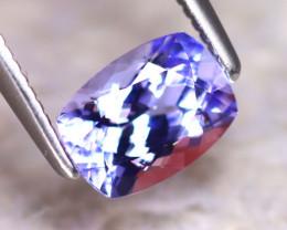 Tanzanite 1.10Ct Natural VVS Purplish Blue Tanzanite D1318/A45