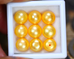 48.27Ct Natural Yellow Color Fresh Water Pearl Cultured Drill Lot B3552