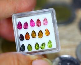 3.07ct Natural Fancy Color Tourmaline Pear Cut Lot B3565