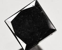 0.96 Cts Natural Coal Black Diamond 4.6 mm Princess Cut Africa