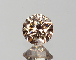 ~UNTREATED~ 0.04 Cts Natural Peach Diamond 2.2mm Round Cut Africa