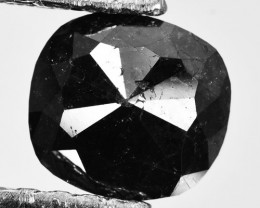 1.50 Cts Natural Coal Black Diamond Cushion (Rose Cut) Africa