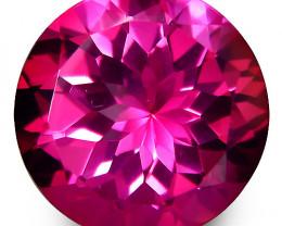 3.18Cts Genuine Amazing Natural Pink Topaz 10mm Round Shape Loose Gemstone