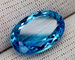 18CT BLUE TOPAZ  BEST QUALITY GEMSTONE IIGC56