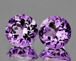 8.00 mm Round 2 pcs 3.63cts Pinkish Purple Amethyst [VVS]