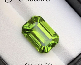 7.45 Carat Natural Grass Color Peridot Gemstone