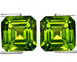 3.93Cts Genuine Excellent Natural Peridot 7mm Asher Matching Pair REF VIDEO