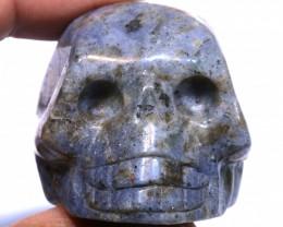 449cts Sodalite Skull Carving  LT-1071 lightningtreasures