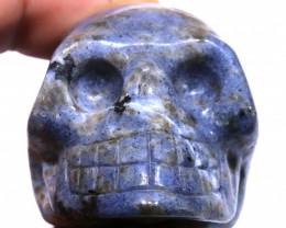 435cts Sodalite Skull Carving  LT-1073 lightningtreasures