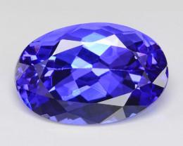 Tanzanite 6.01 Cts Amazing Intense Blue Color Natural Gemstone