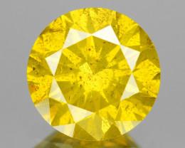 *No Reserve* Diamond 0.86 Cts Rare Fancy Intense Yellow Color