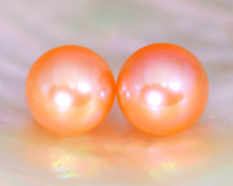 7.7mm 6.73Ct Natural Australian South Sea Orange Color Pearl A1503
