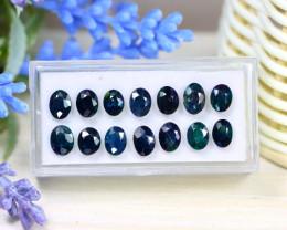 Sapphire 13.56Ct Oval Cut Natural Nigerian Dark Blue Sapphire Lot A1518