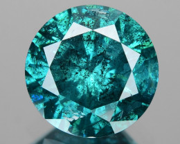 *No Reserve* Diamond 0.84 Cts Sparkling Fancy  Blue Color Natural