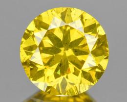 *No Reserve* Diamond 0.66 Cts Fancy Intense Yellow Natural Diamond