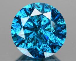 Diamond 0.90 Cts Sparkling Blue Color Natural