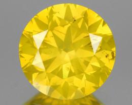 *No Reserve* Diamond 0.95 Cts Fancy Intense Yellow Natural Diamond