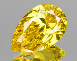 *No Reserve* Diamond 0.48 Cts Fancy Intense Yellow Natural Diamond