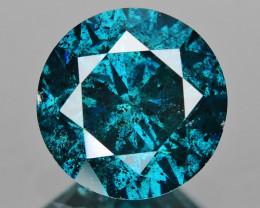 *No Reserve* Diamond 0.97 Cts Sparkling Fancy  Blue Color Natural