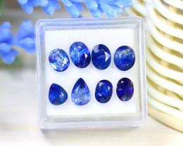Sapphire 8.34Ct 8Pcs Natural Australian Blue Sapphire Box A1528