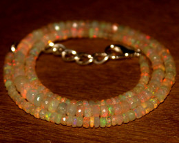37.60 Crts Natural Welo Faceted Opal Beads Necklace 338