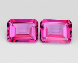 *No Reserve* 3.93 Cts 2 Pcs Pink Natural Topaz Gemstones