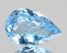 1.12 Cts Natural Beautiful Blue Aquamarine Pear Cut Brazil