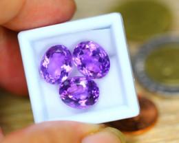 13.80ct Natural Purple Amethyst Oval Cut Lot  B3598