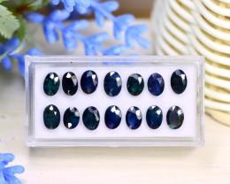 Sapphire 10.56Ct Oval Cut Natural Nigerian Dark Blue Sapphire Lot C1307