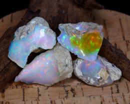 Welo Opal Rough 61.93Ct Natural Ethiopian Play Color Opal Rough C1308