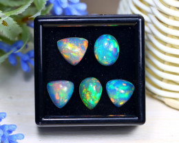 Welo Opal 12.16Ct Natural Ethiopian Rainbow Flash Welo Opal Lot C1321