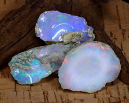 Welo Opal Rough 66.27Ct Natural Ethiopian Flash Color Rough Opal C1324