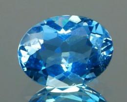 *NR* Top Santa Maria Aquamarine Oval 0.71Ct Top Vivid Blue