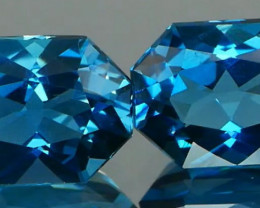 *NR*Radiant Cut London Blue Topaz Pair 4.73Cts