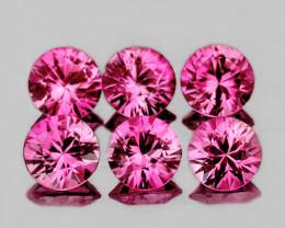3.00 mm Round 6 pcs 0.84ct Unheated Pink Sapphire [VVS]
