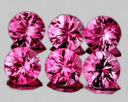 3.00 mm Round 6 pcs 0.74ct Unheated Pink Sapphire [VVS]